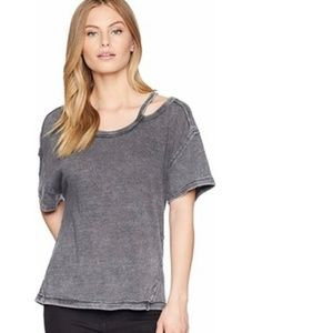 FREE PEOPLE We The Free Alex Tee Charcoal